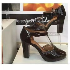 New 🎁Clarks 🎁Size 8 Dollar Band Black Patent Leather Party Shoes Heel 42 EU)