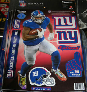 Fathead TEAMMATE ODELL BECKHAM 8X16 INCLUDE 8 DECALS SEALED NEW YORK GIANTS
