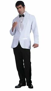 Mens Formal White Jacket Fancy Dress Costume Outfit