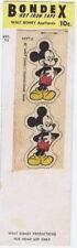 Bondex Mickey Mouse Hot Iron Tape, 1946  vintage iron on