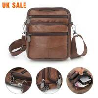 Handbags Men's Boys Small Leather Messenger Side Bag Cross Body Shoulder  New
