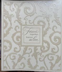 Vintage Hallmark Wedding Album Forever Together In Love Embossed Ivory Scroll