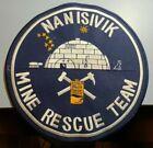 "Nanisivik Nunavut Canada Mine Rescue Team HUGE 9"" Embroidered Patch Igloo Husky"