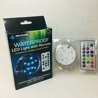 Underwater Wireless LED Lights Swimming Pool Submersible Safe Wedding Decor 6D8