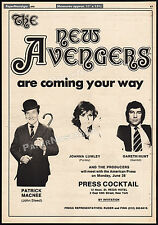 THE NEW AVENGERS__Orig. 1976 Trade AD promo_poster__PATRICK MACNEE_JOANNA LUMLEY