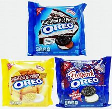Nabisco Oreo WAFFLES SYRUP FIREWORK MISSISSIPPI MUD PIE Cookies LIMITED EDITION