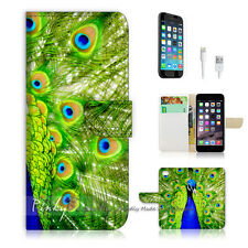 ( For iPhone 7 ) Wallet Case Cover P0184 Peacock