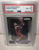 2018 Panini Prizm LeBron James Cleveland Cavaliers Lakers PSA Graded 8 NM-MT #6
