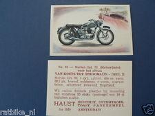 HAUST NO 63 NORTON INTER 30 MOTORCYCLE  PICTURE STAMP ALBUM CARD,ALBUM PLAATJE