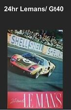 Ford GT-40 24hr Le Mans Car Poster WOW!!