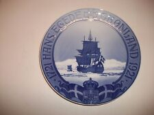 """Royal Copenhagen Plate 1921 Expedition To Greenland 9"""" Rc#201 / See Details"""