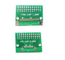 5pcs FFC/FPC 24 Pin 1mm 0.5mm to DIP Adapter PCB Board Converter Double Side UK