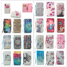 For Samsung Galaxy S8 S9 Plus Pattern Leather Wallet Flip Card Phone Case Cover