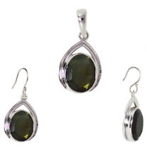 Labradorite Gemstone 925 Sterling Silver Pendant Set Earring For Girls & Womens