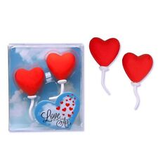 943620 Trendhaus Radierer Radiergummi Love is in the air 2er Set Liebe Ballons