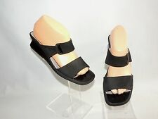 ROHDE BLACK LEATHER WEDGE MULES. UK SIZE 6. EU39.
