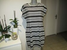 robe d'été taille XXL 42 44 C&A rayé à rayures woman summer dress us 16 uk 20