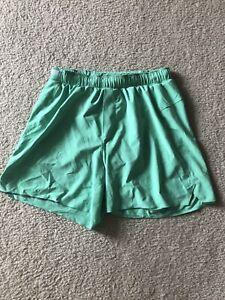 "Lululemon Men's Surge Shorts 6"" Lined Reflective Size M Medium Mint Green"