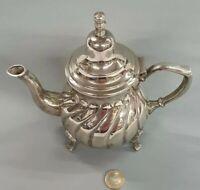 Silberne Teekanne Mokka Kaffeekanne gestempelt Antik Nachlass