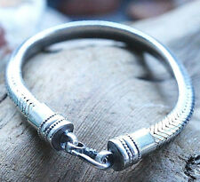 Silberarmband 18,5 cm Silber 3-Eckig 7 x 4,5 Armband Handarbeit Schlangenkette