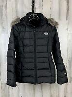 The North Face 550 Gotham II Women's Black Down Jacket Faux Fur Size S