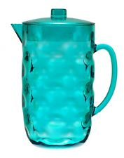 80 oz Blue Acrylic Plastic Pitcher w/ Lid BPA Free, great for Iced Tea and Juice