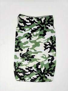 Neck Gaiter Face Covering Tube Scarf Earloops Camo Print Multi Functional