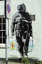 Spaceman Banksy Poster 12x18 inch