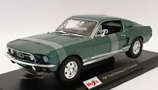 Maisto 1/18 Scale Diecast - 46629 - 1967 Ford Mustang GTA Fastback - Green