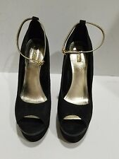 Wild Pair womens black suede platform heels size 9 M
