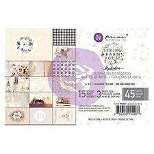 "Spring Farmhouse Journaling Cards Pad 4""x6"" 45/pkg-15 Designs/3 Each"