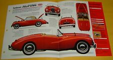 1955 1954 1953 Sunbeam Alpine Convertible 2267cc IMP Info/Specs/photo 15x9