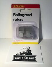 HORNBY 00 GAUGE - R8212 - ROLLING ROAD EXTRA ROLLERS (PACK OF 2) - NEW CARDED