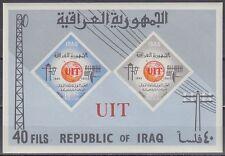 Irak Iraq 1965 ** Bl.7 B Fernmeldeunion Telecommunication UIT ITU Antenne