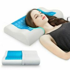 Memory Foam Gel Pillow For Neck Relaxing Cooling Bedroom Bedding Sleeping Pillow