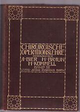 CHIRURGISCHE OPERATIONSLEHRE : BAND III - BIER et al  German surgical text 1913