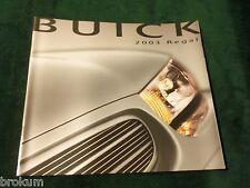 MINT 2003 BUICK REGAL LS GS DEALER 30 PAGE SALES BROCHURE NEW ORIGINAL (BOX 493)