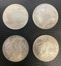 Germany 10 Mark 1972 Olympic Coins, 4 Pieces, Actual Silver