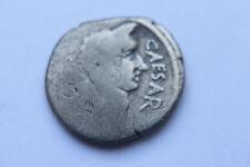 Raras Ancient Roman Julio César Retrato De Plata Denario moneda 1 stcent BC César
