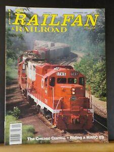 Railfan & Railroad Magazine 1994 September Chicago Central MARC E9