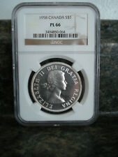 1958 CANADIAN SILVER DOLLAR / NGC PL66