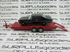 Greenlight 1:64 Loose Track Day Black 1968 Chevrolet Nova w/Red Car Trailer