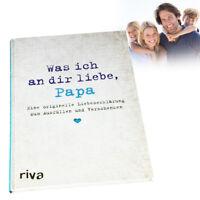 Ausfüllbuch - Liebesgeschenk für Papa - Buch zum Ausfüllen für Deinen Vater