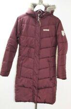 Regatta Womens Deep Purple Longline Padded Hooded Coat Size UK 10 ##H1