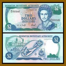 Bermuda 2 Dollars, 1996 P-40Aa Queen Elisabeth II Unc