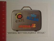 Aufkleber/Sticker: ontdek het veelzijdige spanje España KLM (03011747)