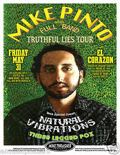 Mike Pinto /Natural Vibrations/Three Legged Fox 2013 Seattle Concert Tour Poster