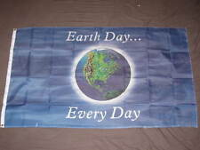 EARTH DAY EVERY DAY FLAG 3x5 ECOLOGY ENVIRONMENT F422
