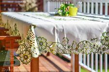 "Oblong Table Cloth Green Chrysanthemum, 134x175cm (54""x72""), Home Decor FFD-017"