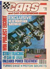 CARS AND CAR CONVERSIONS - October 1989